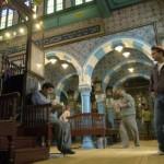 Visitors at the Ghriba synagogue on Djerba where 1,200 Jews still live