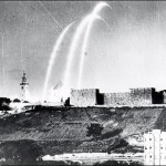 Jerusalem under siege by Jordanian shells, 1948