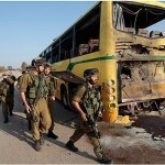 School bus struck by laser-guided antitank rocket fired across Gaza border